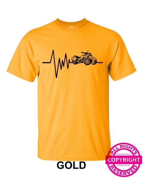 Can Am Spyder - Mens Heartbeat - short sleeve