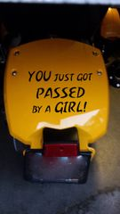 Can Am Spyder Vehicle Decal Sticker - Passed by a Girl