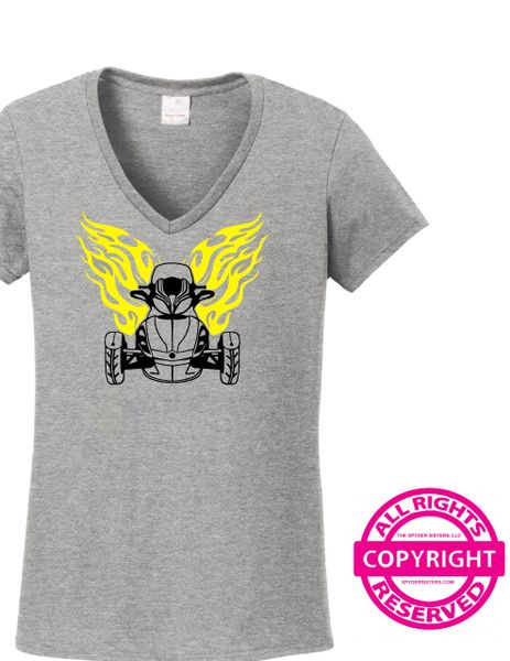 Can Am Spyder - Spyder with Flames - Short Sleeve