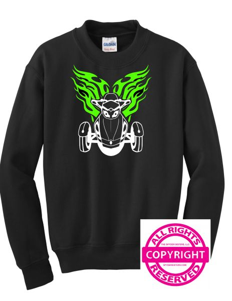 Can Am Spyder -Spyder with Flames - Long Sleeve & Fleece