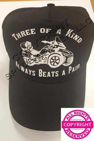 Can Am Spyder Hat - Three of a Kind Always Beats A Pair