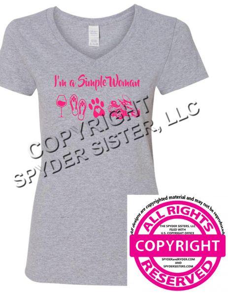Can Am Spyder- I'm a Simple Woman - Short Sleeve