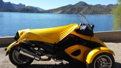 Can Am Spyder Sun Shade -Yellow