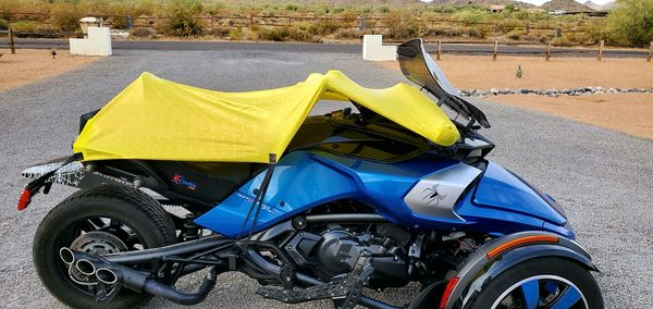 Can Am Spyder/Ryker - Sun Shade - Yellow Holographic