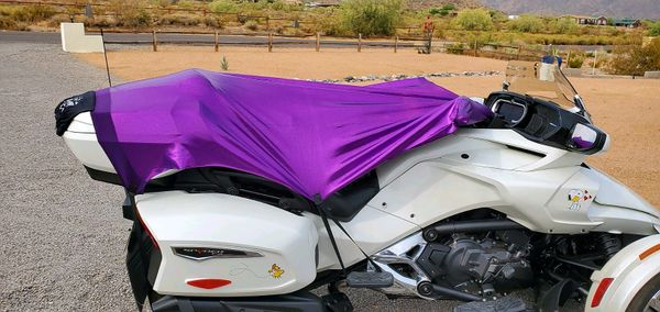 Can Am Spyder/Ryker - Sun Shade - Purple Holographic