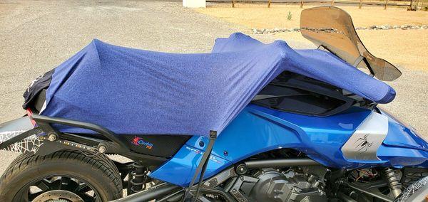 Can Am Spyder/Ryker Sun Shade - Looks Like Blue Denim