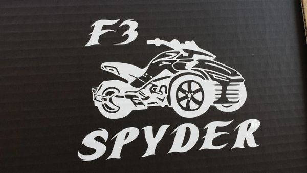 Can Am Spyder Vehicle Decal Sticker - Spyder With Lettering