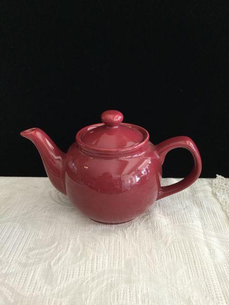 2 cup Price& Kens burgundy teapot
