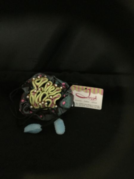 Turquoise jewelry pouch