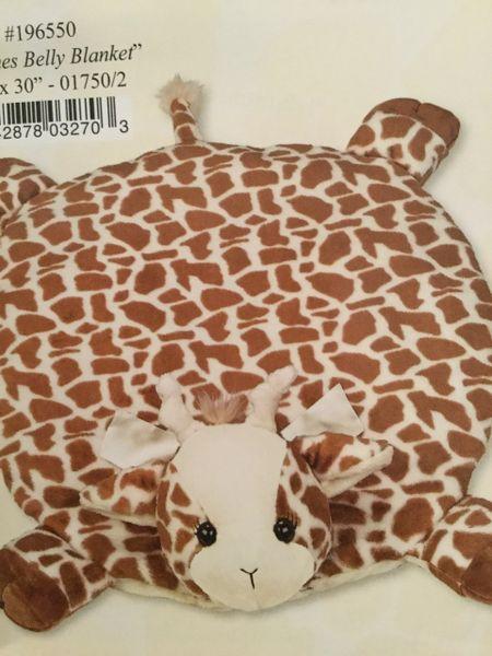 Giraffe belly blanket