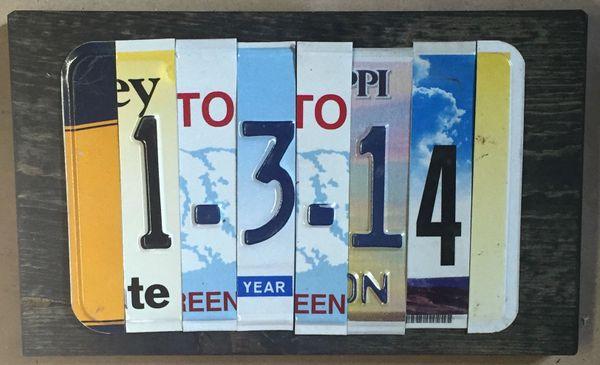 S. Anniversary/Birthday 4 Number Custom Date Sign