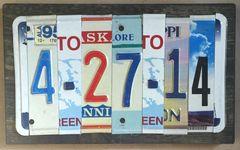 T. Anniversary/Birthday 5 Number Custom Date Sign