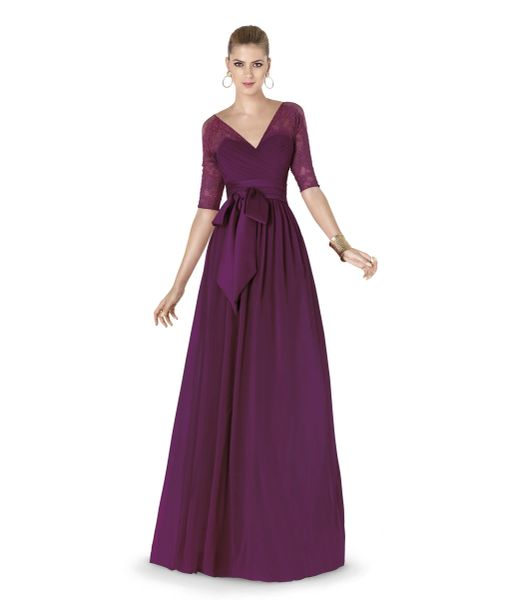 Pronovias Bridal Party Cocktail Dress Alena Burgundy