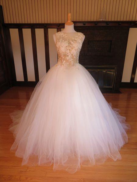 San Patrick by Pronovias Wedding Dress Micaela Ivory/Champagne
