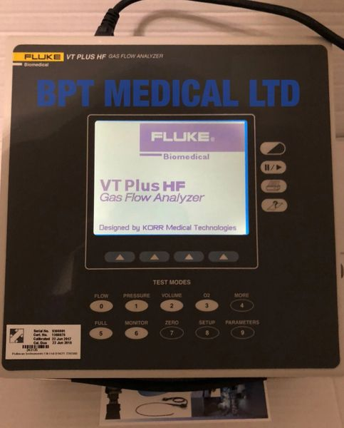 Fluke VT Plus HF Gas Flow Ventilator Analyzer bi-directional flow,pressure  UK