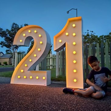 light up 21 numbers brisbane