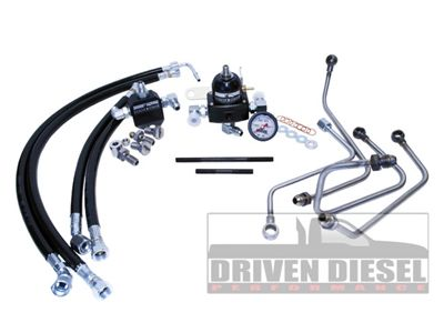 Driven Diesel 6.0 Fuel Bowl Delete Regulated Return Fuel System Kit