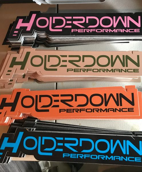 Holderdown Decal