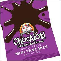 Chocolate Chip Flavored Whole Grain MINI Pancakes
