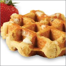Strawberry Artisan Belgian Liege Waffle