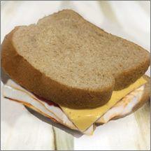 Turkey & American Cheese on Wheat Bread