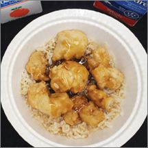 Orange Chicken & Brown Rice Bowl