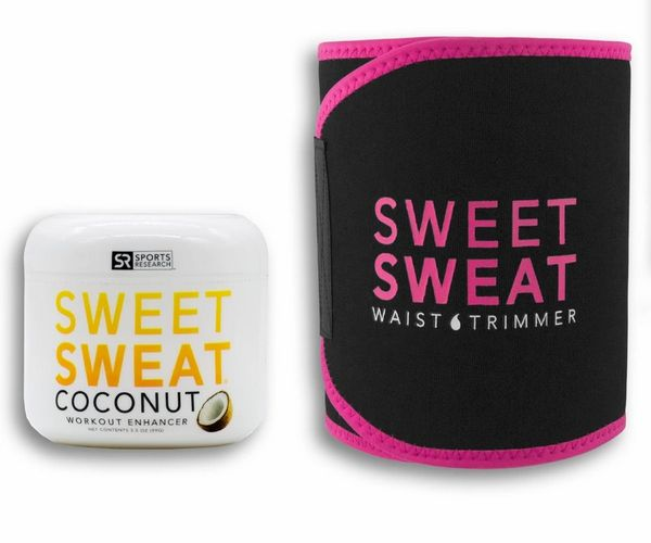 Sweet Sweat Coconut Jar 99g + Waist Timer Belt PINK