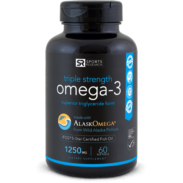 Omega-3 Fish Oil AlaskaOmega® (1250mg) - 60 softgels