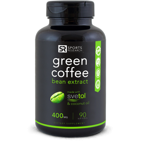 Green Coffee Bean Extract 400mg 90 Softgels Sweet Sweat Shop