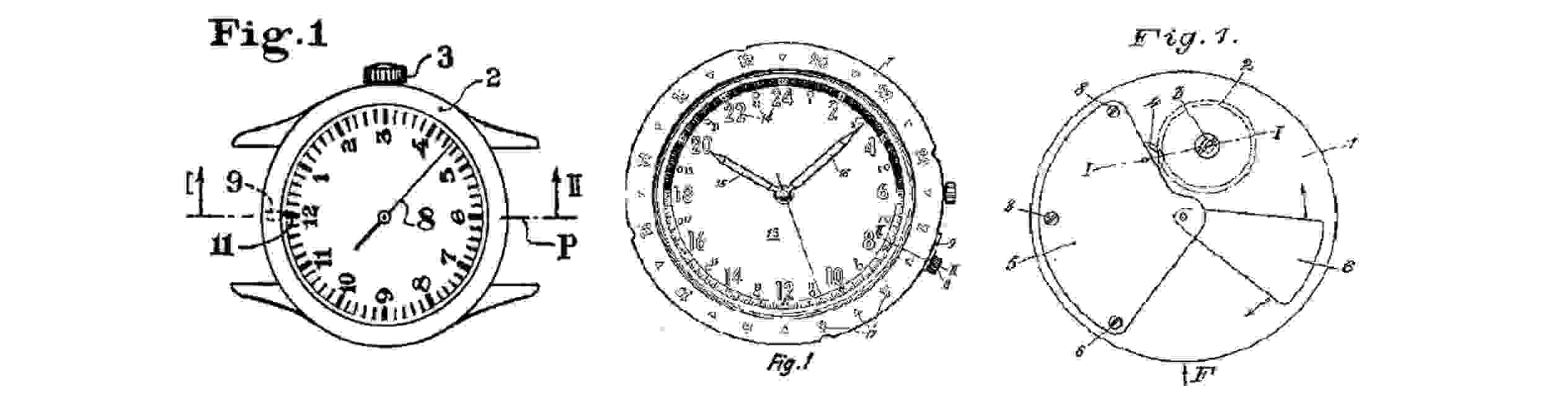 Glycine Patents, Vintage Glycine Watch,Glycintennial