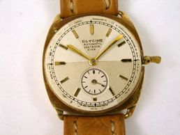 vintage early Glycine Automatic watch  with fold lever crown Eugene Meylan