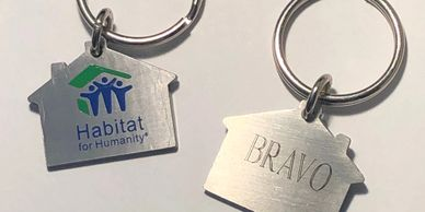 Habitat for Humanity personalized keychain given to new homeowners