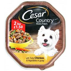 CESAR Country Kitchen with Tasty Chicken & Vegetables in Gravy