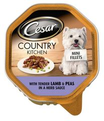 CESAR Country Kitchen with Lamb & Peas in a herb sauce 150gr