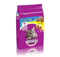 WHISKAS POCKETS WITH CHICKEN STERILE +1 yrs - 2kg