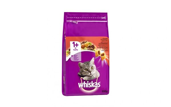 WHISKAS POCKETS WITH BEEF + 1 yr