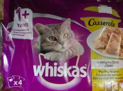 WHISKAS CASSEROLE in JELLY POULTRY SELECTION x 4 - 85gr