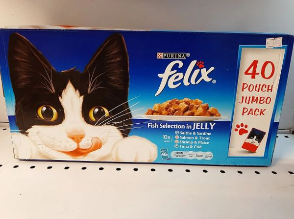 FELIX Fish Selection In Jelly Jumbo Pack x 40