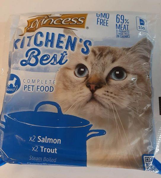 PRINCESS KITCHEN'S BEST Chunks in Gravy - x2 Salmon, x2 Trout
