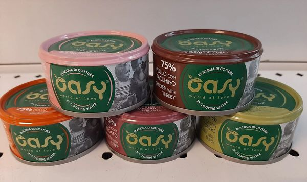 OASY Tins in Cooking Water - 70gr
