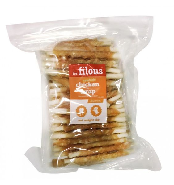 CHICKEN WRAP RAWHIDEX1KG 100-024