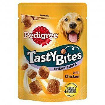 PEDIGREE TASTY BITES CHEWY CUBES CHICKEN - 130gr