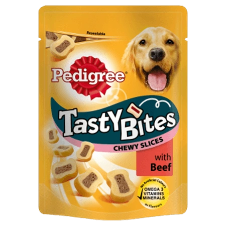 PEDIGREE BITES CHEWY SLICES BEEF - 155gr