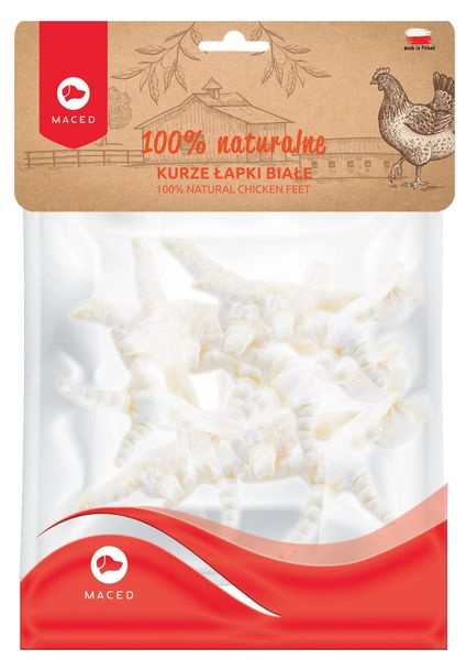 MACED 100% NATURAL CHICKEN FEET (White) - 60gr