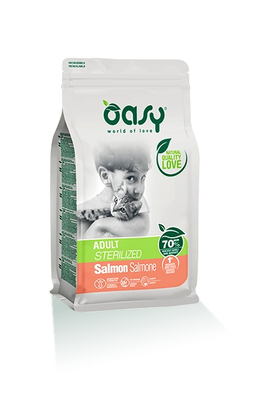 OASY ADULT CAT SALMON STERELIZED