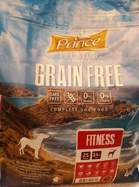 PRINCE GRAIN GREE FITNESS - ADULT DOGS - 4KG