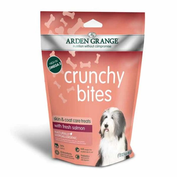 ARDEN GRANGE CRUNCHY BITES - skin and coat care treats (235gr)