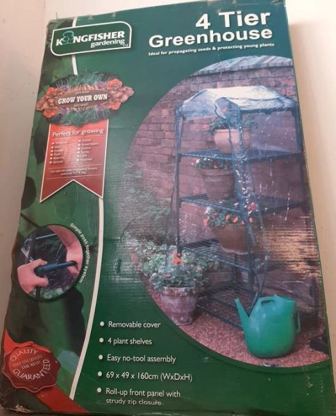 KINGFISHER 4 TIER GREENHOUSE