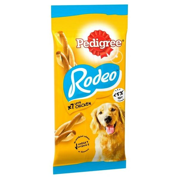PEDIGREE RODEO CHICKEN X 7 - <5%fat