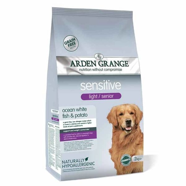 ARDEN GRANGE SENSITIVE LIGHT/SENIOR OCEAN WHITE FISH AND POTATO 2KG